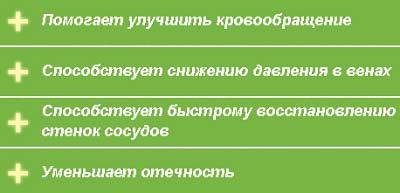 Варикозон свойства